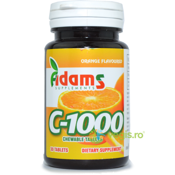 Vitamina C 1000mg 30tb Masticabile ADAMS VISION