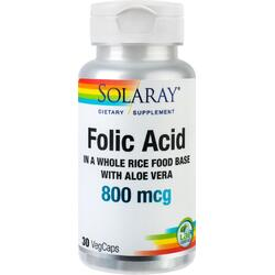 Folic Acid 800mcg 30cps SOLARAY