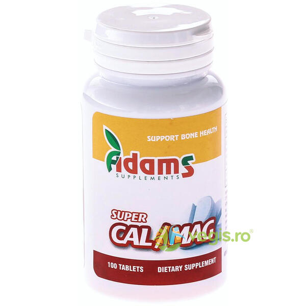 Super Calciu (1000mg) Magneziu (500mg) 100tb ADAMS VISION