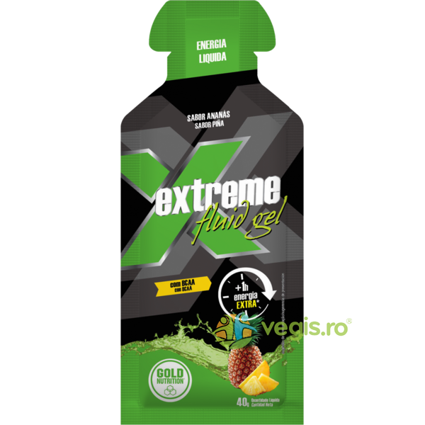 Extreme Gel Fluid Energizant Ananas 40g GOLD NUTRITION