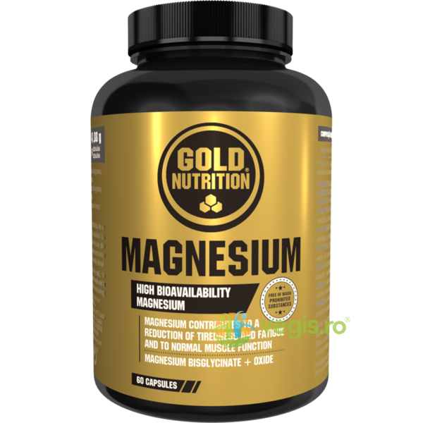 Magneziu 600mg 60cps GOLD NUTRITION