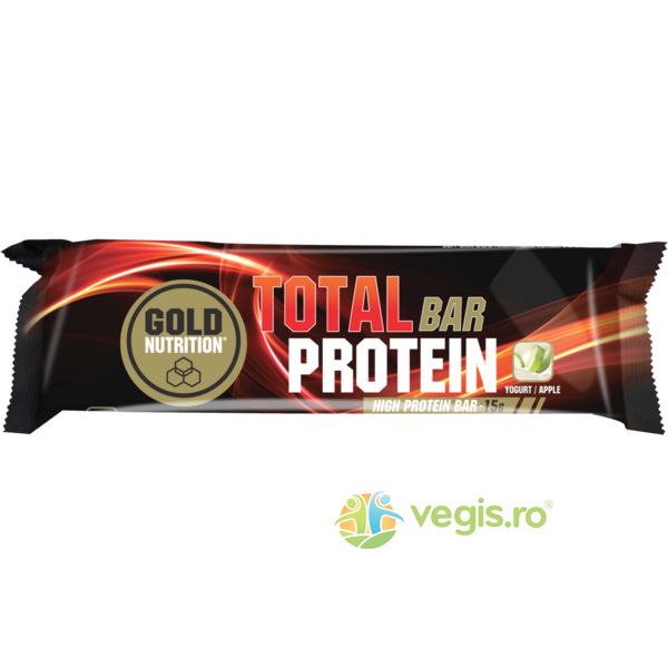 Total Baton Proteic cu Iaurt si Mere 46g GOLD NUTRITION