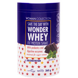 Woman Collection Wonder Whey Pudra Proteica Ciocolata si Menta 360g GOLD NUTRITION