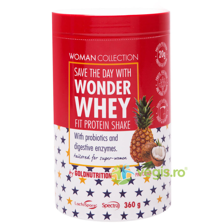 woman collection wonder whey pudra proteica pina colada 360g