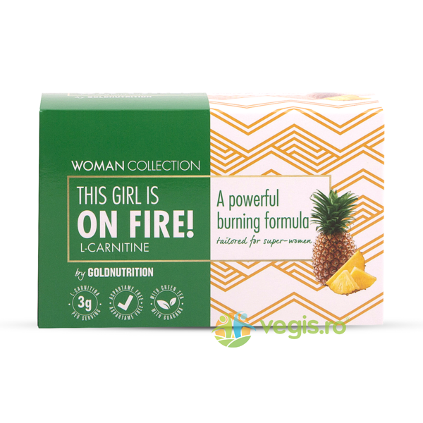 Woman Collection On Fire L-Carnitine cu Ananas 15dz GOLD NUTRITION