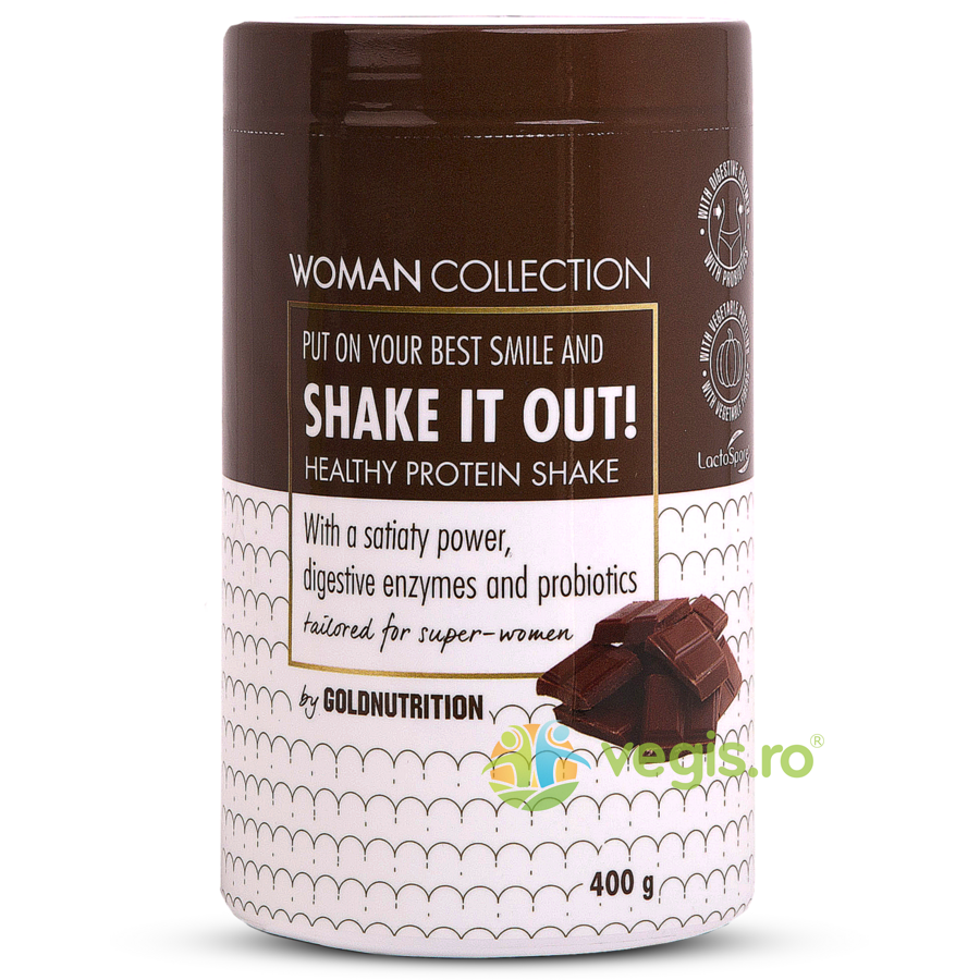 woman collection shake it out pudra proteica cu ciocolata 400g