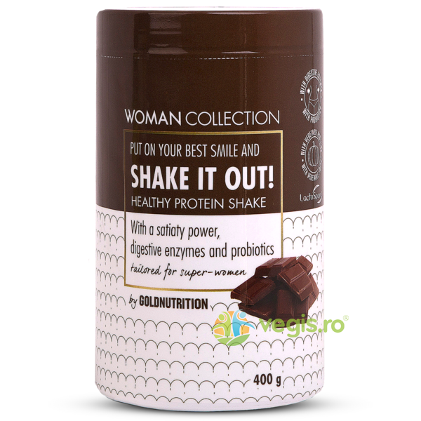 Woman Collection Shake It Out Pudra Proteica cu Ciocolata 400g GOLD NUTRITION