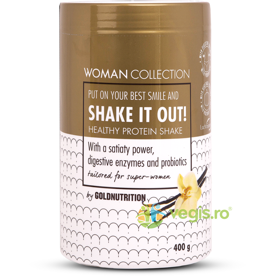 woman collection shake it out pudra proteica cu vanilie 400g