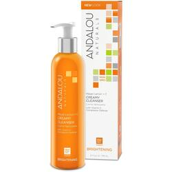 Brightening Gel-Crema pentru Curatare si Luminozitate Ten Normal sau Mixt 178ml ANDALOU NATURALS