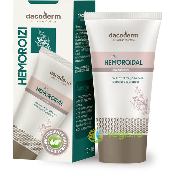 Gel Hemoroidal 75ml DACODERM