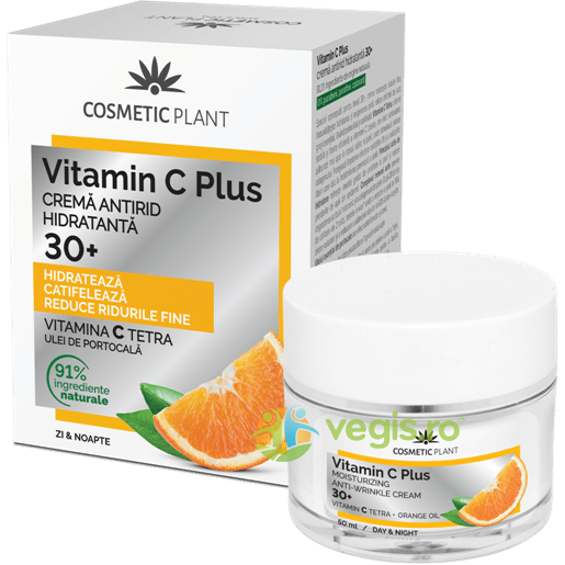 Set Vitamin C Plus 30+ (Crema de Fata Antirid Hidratanta 30+ 50ml+Apa Micelara 150ml) COSMETIC PLANT