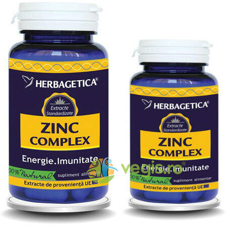 Zinc Complex 60Cps+10Cps Pachet 1+1 Promo HERBAGETICA