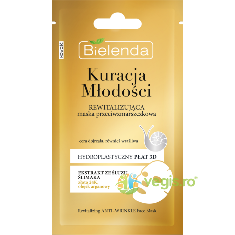 BIELENDA YOUTH THERAPY Masca Antirid Revitalizanta cu Extract de Melc 1buc (23g)