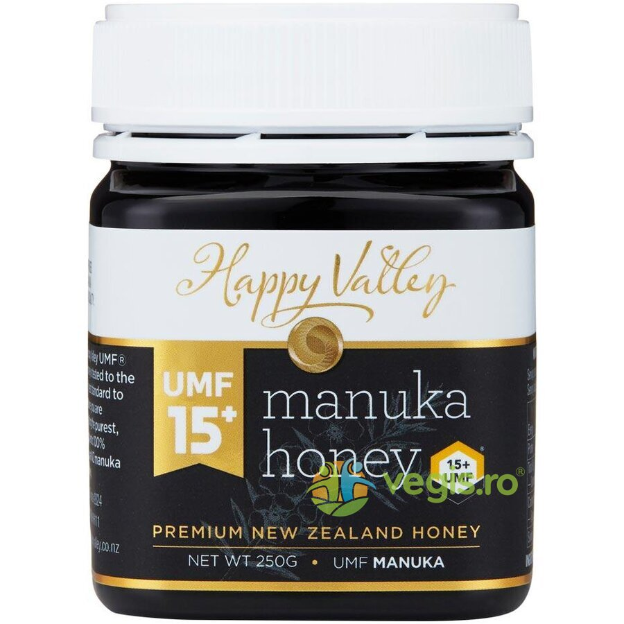 HAPPY VALLEY Miere de Manuka Premium UMF +15 250g