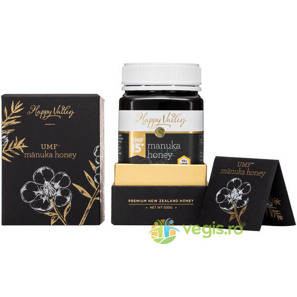 Miere de Manuka Premium UMF +15 250g HAPPY VALLEY