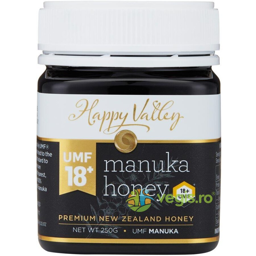 HAPPY VALLEY Miere de Manuka Premium UMF +18 250g