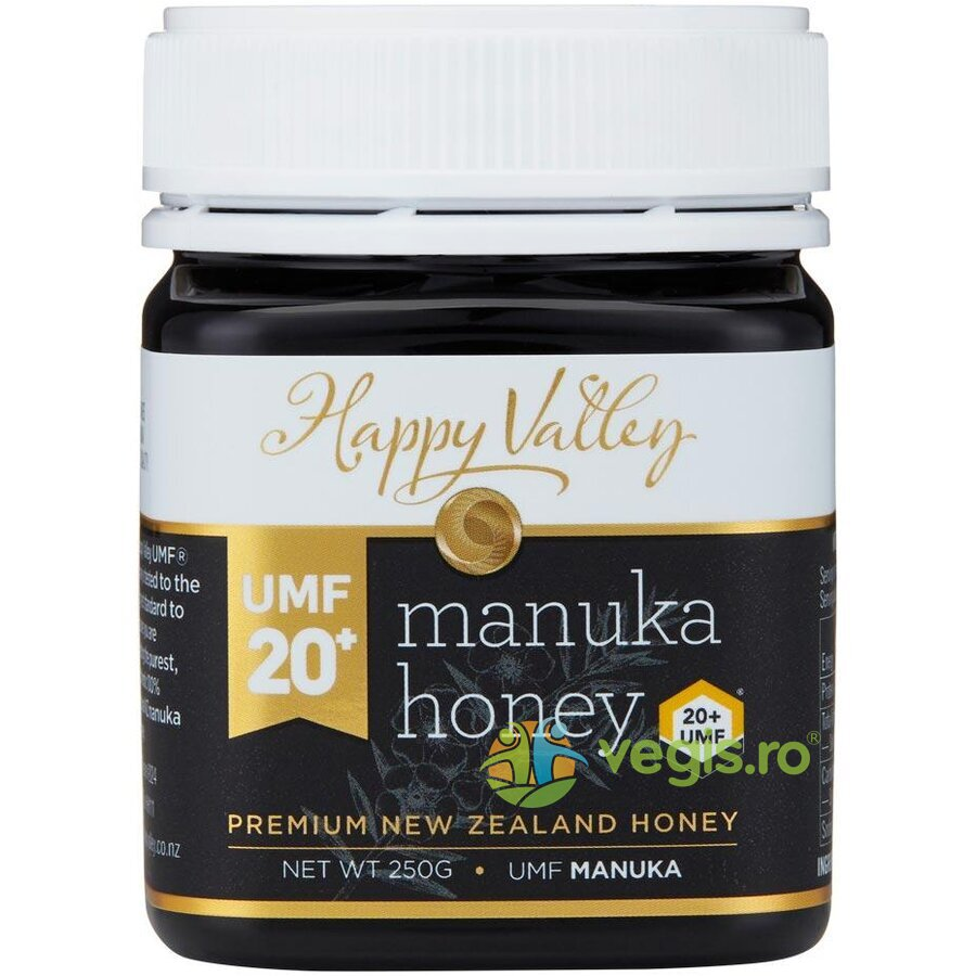 HAPPY VALLEY Miere de Manuka Premium UMF +20 250g