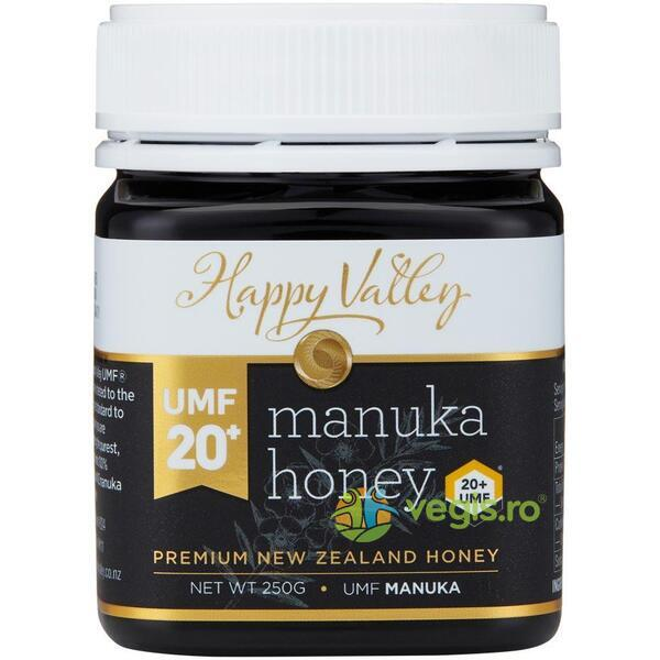 Miere de Manuka Premium UMF +20 250g HAPPY VALLEY
