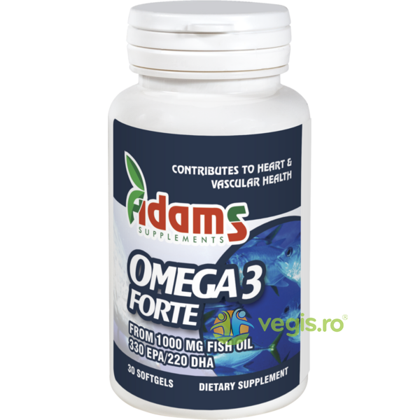 Omega 3 Forte (33%EPA/22%DHA) 30cps ADAMS VISION
