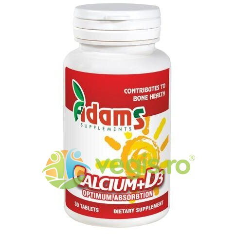 ADAMS VISION Calciu+Vitamina D3 (600mg+3mcg) 30tb