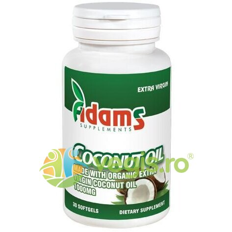 ADAMS VISION Coconut Oil 1000mg 30cps