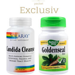 Candida Cleanse 60cps + Goldenseal 570mg 30cps Pachet 1+1 ( infectii vaginale) VEGIS