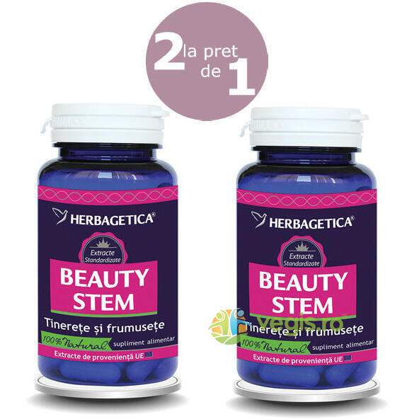 Pachet Beauty Stem 60Cps+60Cps HERBAGETICA