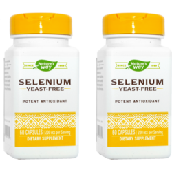 Selenium 200mcg 60cps Pachet 1+1 NATURE'S  WAY