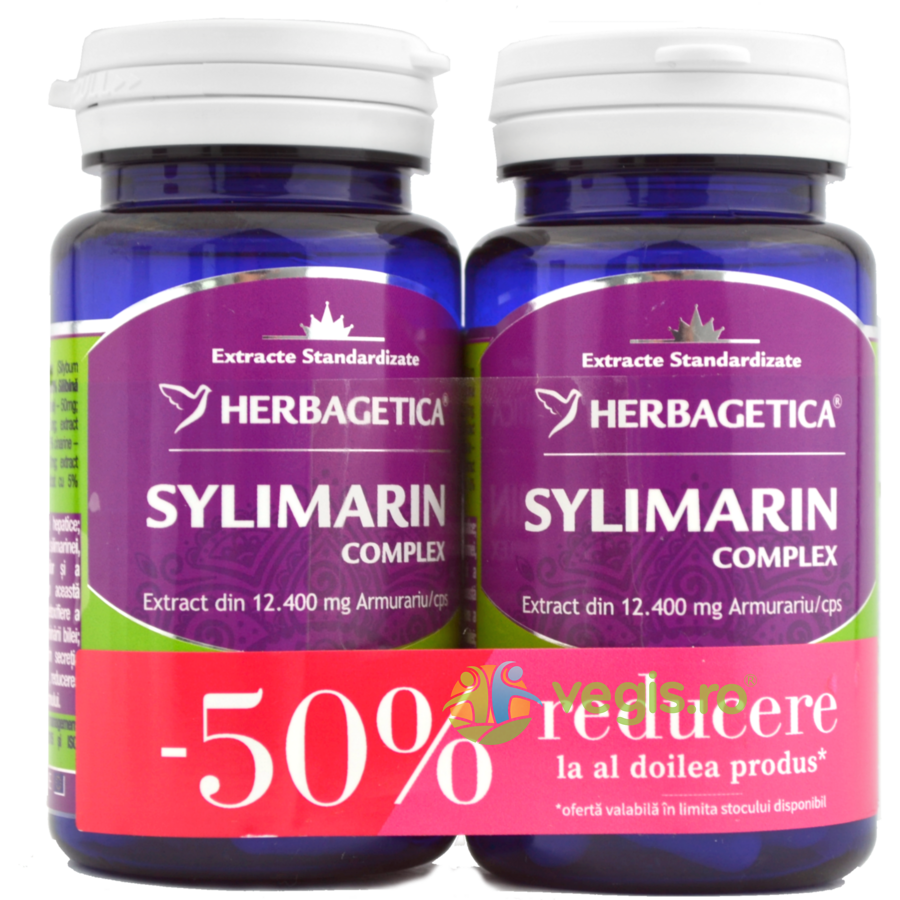 HERBAGETICA Sylimarin Complex (Silimarina) 30Cps Pachet 1+1-50%