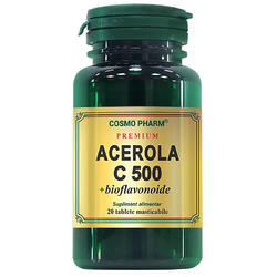 Acerola C 500mg+Bioflavonoide 20cps COSMOPHARM