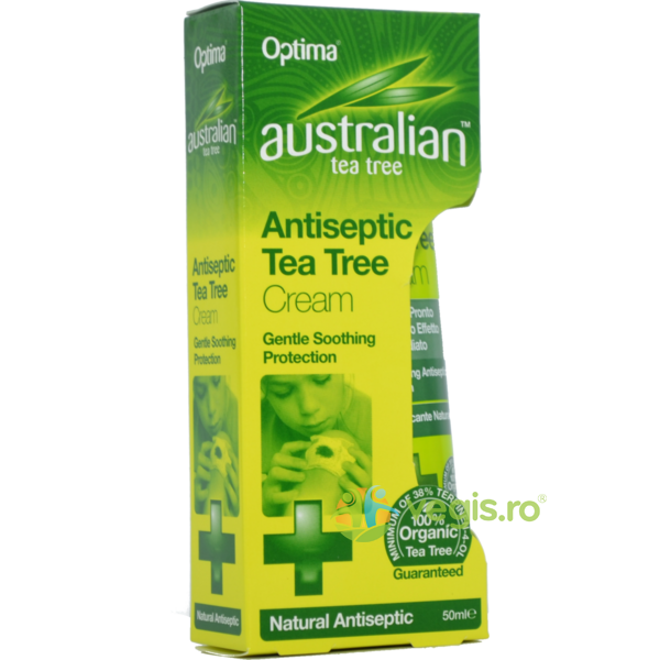 Crema Antiseptica cu Ulei din Arbore de Ceai (Tea Tree) 50ml OPTIMA