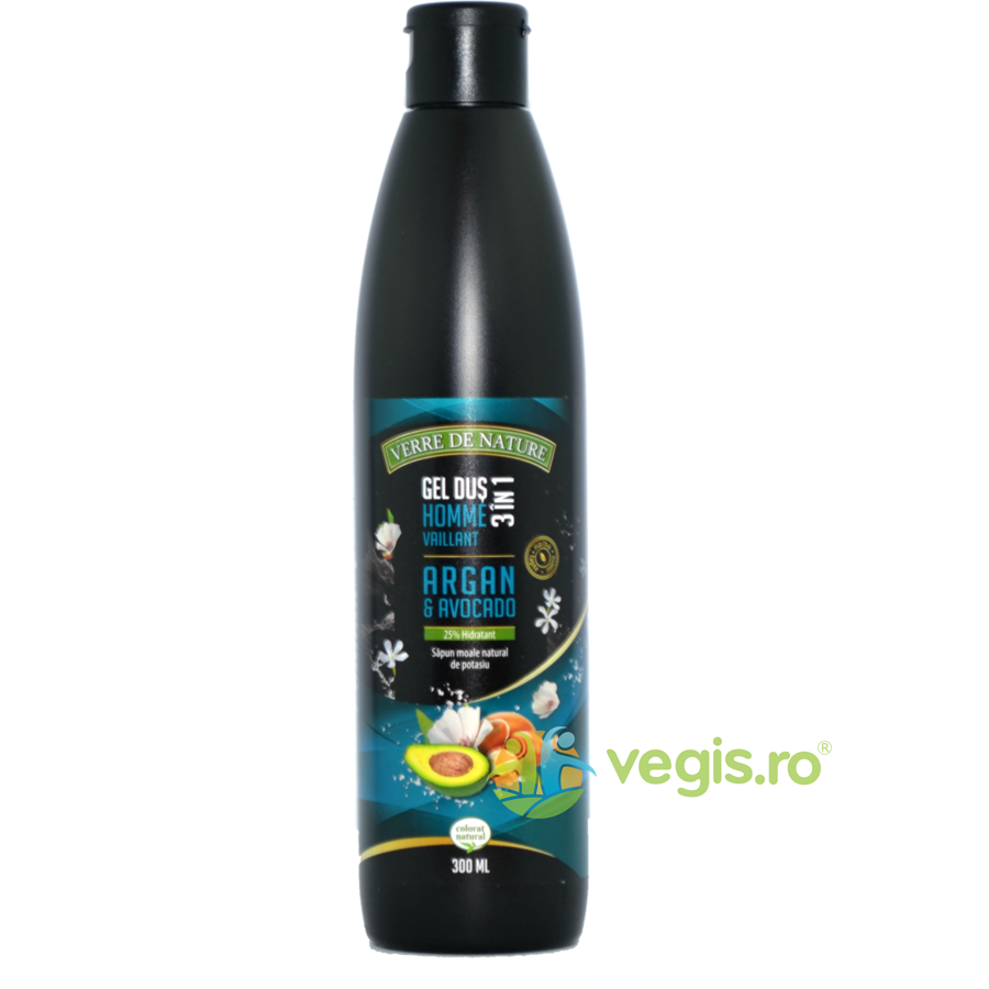 Gel de Dus 3 in 1 Homme Vaillant cu Argan, Avocado si Miere de Albine 300ml