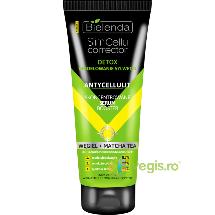 Ser Booster Concentrat Anticelulitic Modelator pe Baza de Matcha si Carbune Slim Cellu Corrector 250ml thumbnail