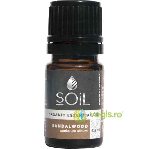 Ulei Esential de Santal (Sandalwood) Ecologic/Bio 2.5ml SOiL