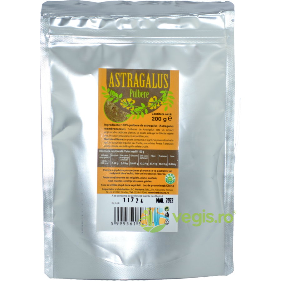 HERBAVIT Astragalus Pulbere 200g