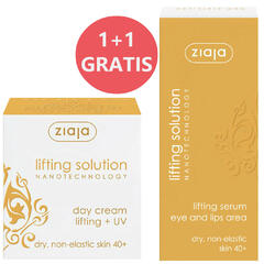 Crema De Zi Lifting Solution 40+ SPF 10 50ml + Ser Antirid Pentru Ochi Si Buze 30ml Gratis ZIAJA