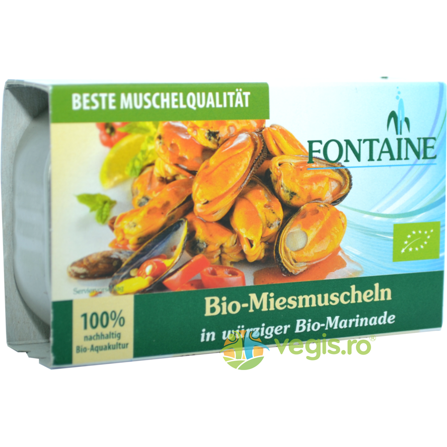 FONTAINE Midii in Sos Picant Ecologice/Bio 120g