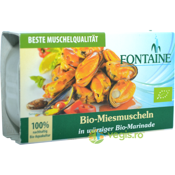 Midii in Sos Picant Ecologice/Bio 120g FONTAINE