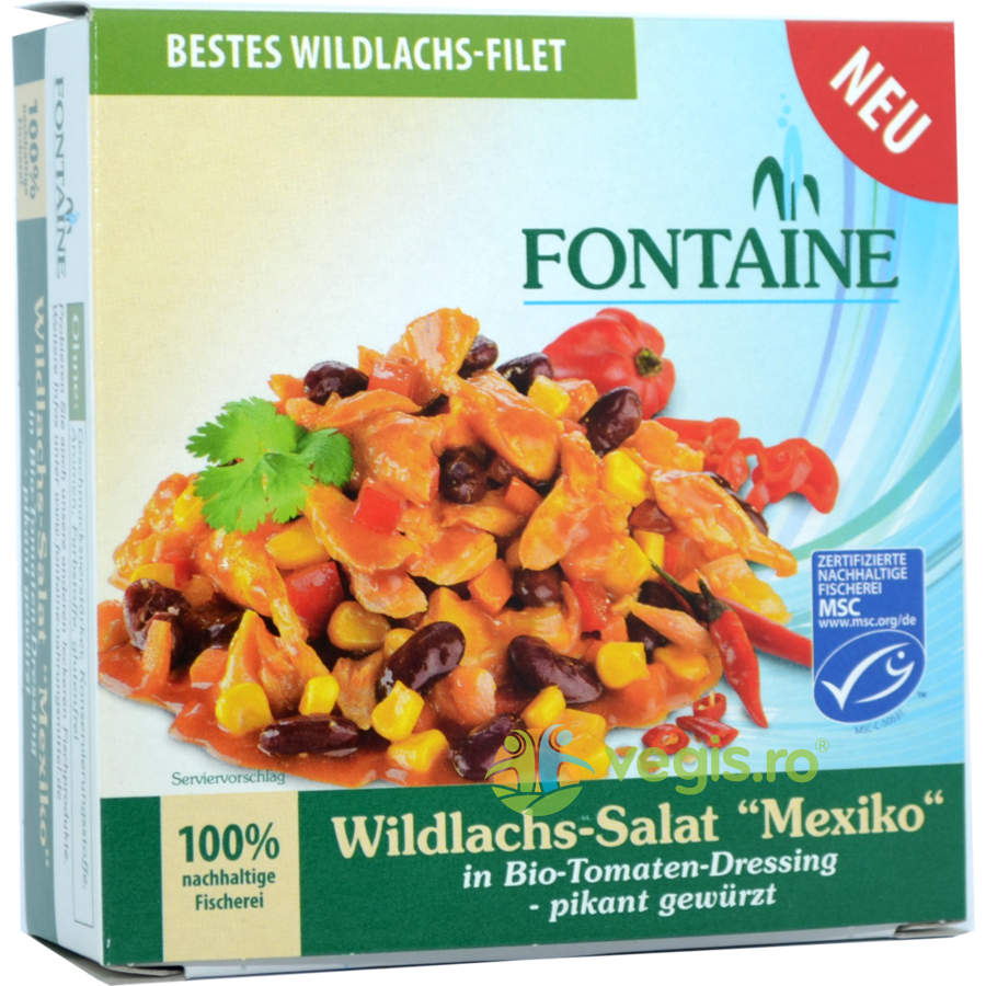 FONTAINE Salata Mexicana cu Somon Salbatic 200g