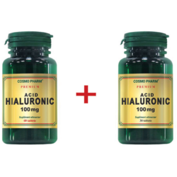 Acid Hialuronic 100mg Premium 60cpr+30cpr Pachet 1+1 COSMOPHARM