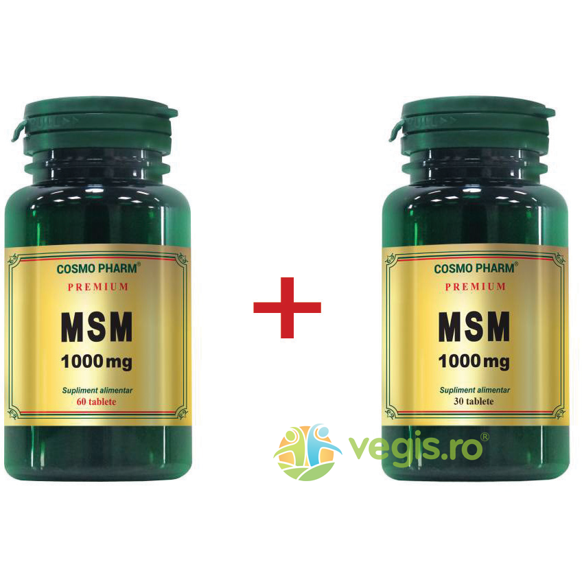 MSM 1000mg Premium 60cpr+30cpr