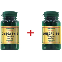 Omega 3-6-9 Complex 1206mg Premium 60cps+30cps Pachet 1+1 COSMOPHARM