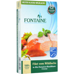 File de Somon Salbatic in Sos de Tomate cu Busuioc 200g FONTAINE