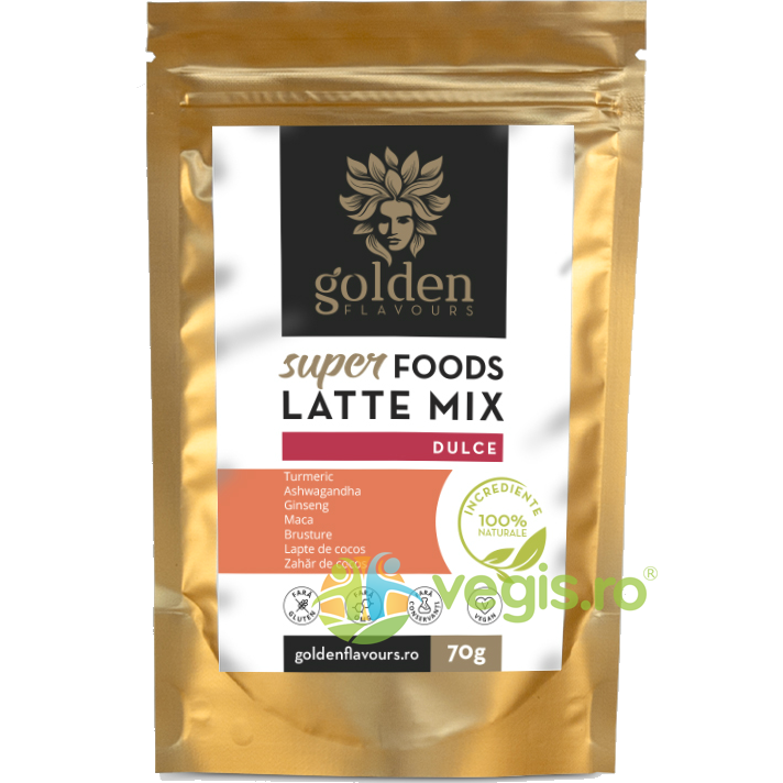GOLDEN FLAVOURS SuperFoods Latte Mix Dulce 70g