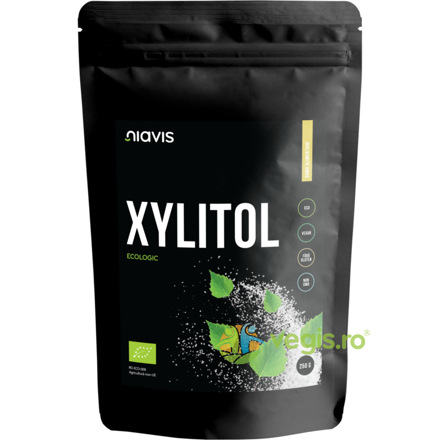 NIAVIS Xylitol (Xilitol) Pulbere (Pudra) Ecologica/Bio 250g