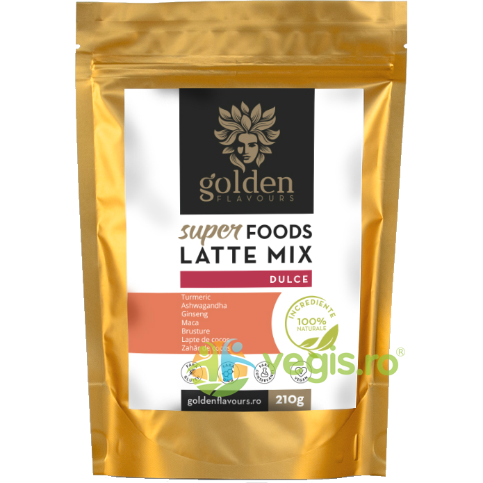 GOLDEN FLAVOURS SuperFoods Latte Mix Dulce 210g