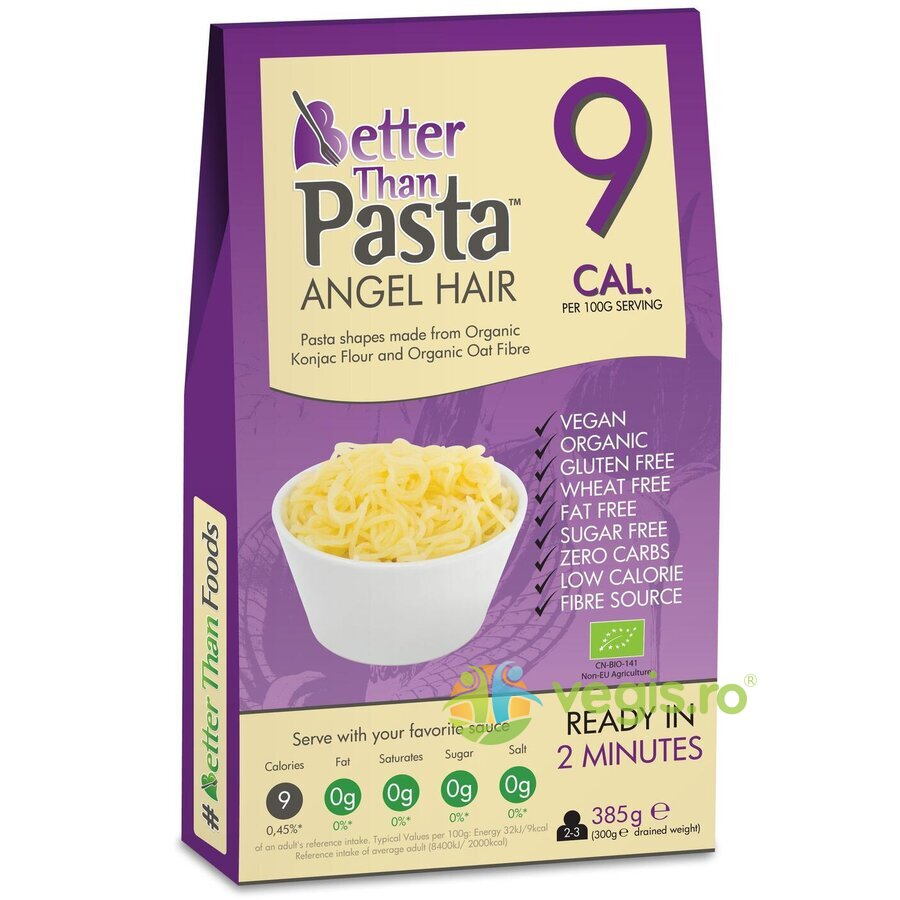 BETTER THAN FOODS Paste din Konjac Angel Hair Fara Gluten Ecologice/Bio 385g