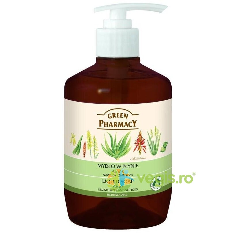 GREEN PHARMACY Sapun Lichid cu Aloe 465ml