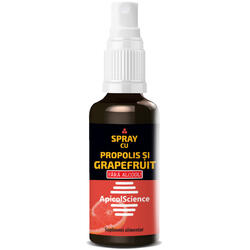 Spray cu Propolis si Grapefruit fara Alcool 50ml APICOLSCIENCE