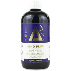 Mind Plus Sinergie de Argint, Platina si Aur Coloidal (20ppm) 480ml PURE ALCHEMY